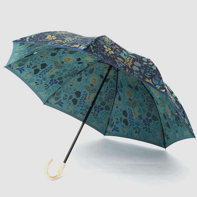 【晴雨兼用 折りたたみ傘】Stig Lindberg HERBARIUM BLUE