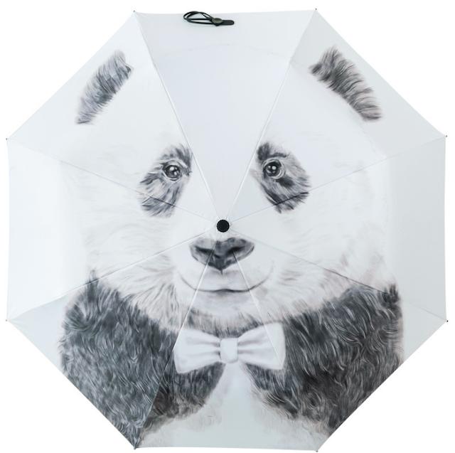 晴れ雨兼用 折りたたみ傘 パンダ