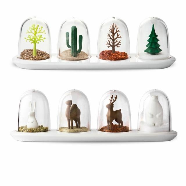 調味料ボトル キッチン収納 生活必需品 創造性 防湿 植物の形 動物モデリング 軽い 実用的 8種
