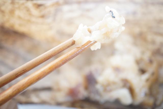 レンジで温めたちまきのお米