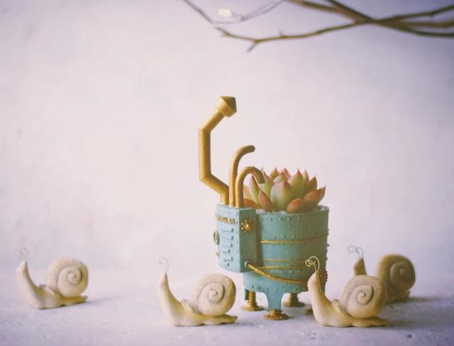エキドナ Echidna ECHIDNA echidna プランター 植木鉢 陣内啓治 造形作家 作品 アート 多肉植物 植物
