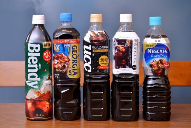 今回はこちらの無糖ペットボトルコーヒー5商品を飲み比べ
