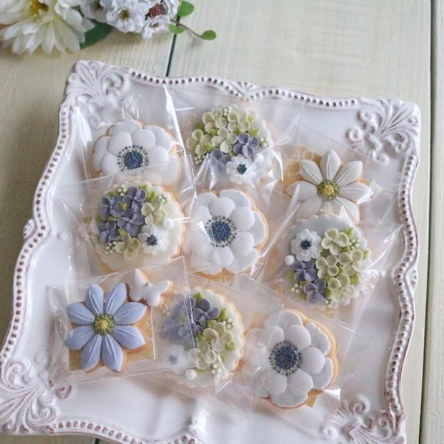 【送料半額中!】Flower*FlowerギフトBOX・6月(天然色素のアイシングクッキー)/結婚、バースデー、父の日