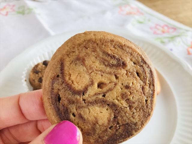アイスボックスクッキー 封から出したところ