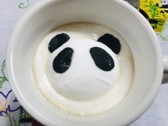 パンダ 周りが泡で埋まったところ