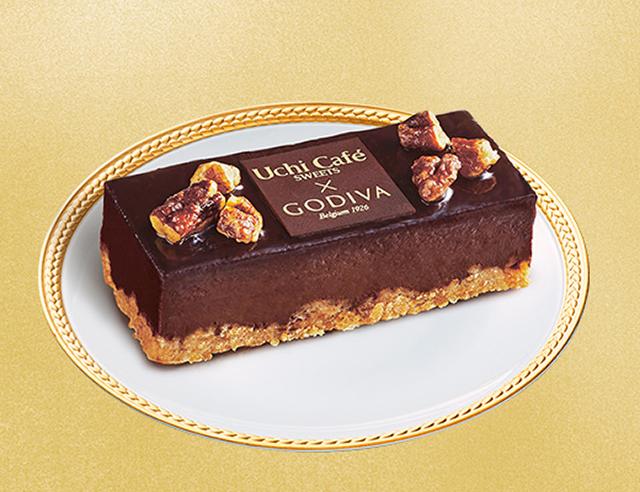【ローソン】Uchi Café×GODIVA3周年記念商品。Uchi Café×GODIVA ショコラケーキ(6月16日発売)
