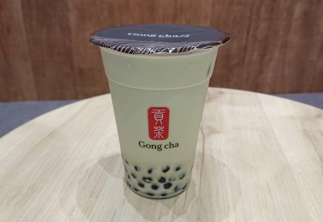 玄米茶ミルクティー