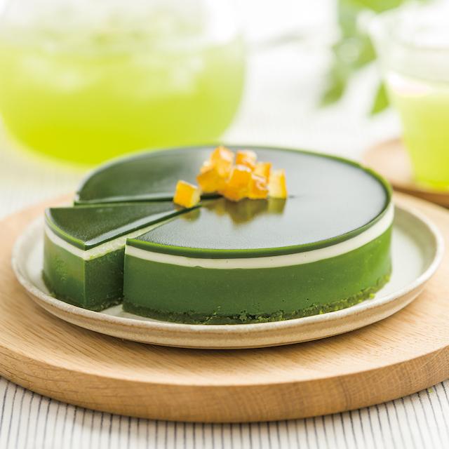 緑茶とチーズケーキ