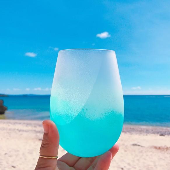 miyako blue /500mlペアグラス(2個組)