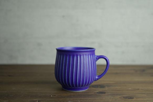 8.2×8.2cm 青マット 鎬マグカップ