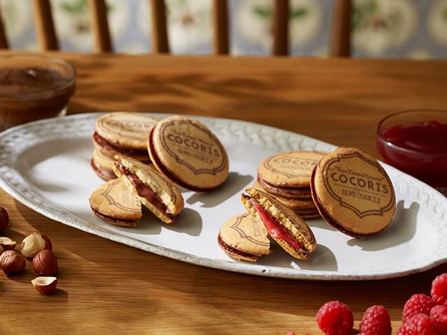 ブランド「COCORIS(ココリス)」サンドクッキー「ヘーゼルナッツと木苺」