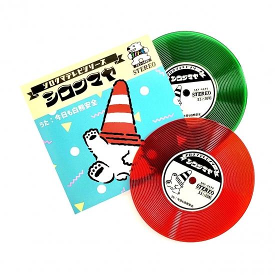 レコード風コースター