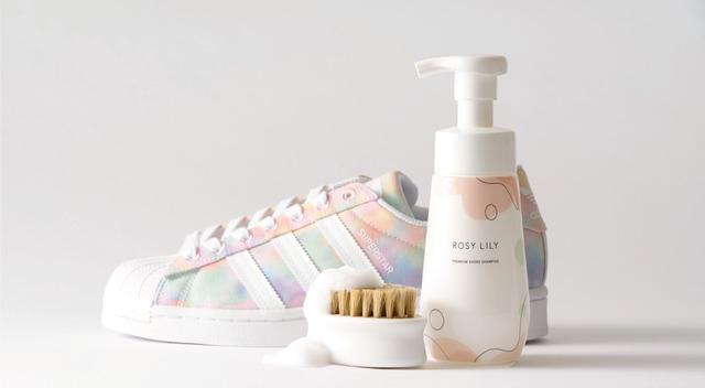 ROSY LILY プレミアムシューズシャンプー ROSY LILY シューズシャンプー 靴洗い 靴石鹸 靴シャンプー 革靴洗い方 エナメル靴洗い方 洗い流さない靴シャンプー ロージーリリー