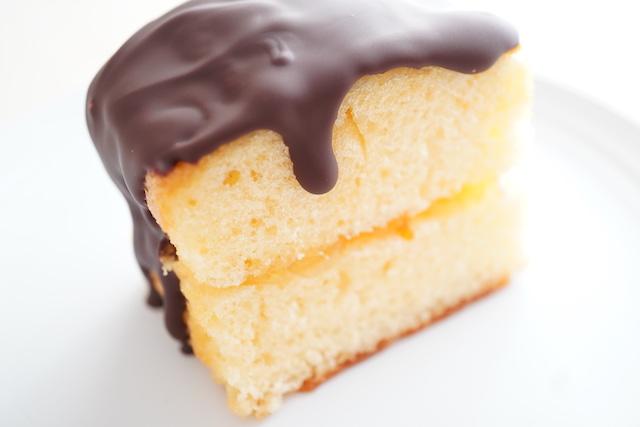 パウンドケーキのチョコがけ