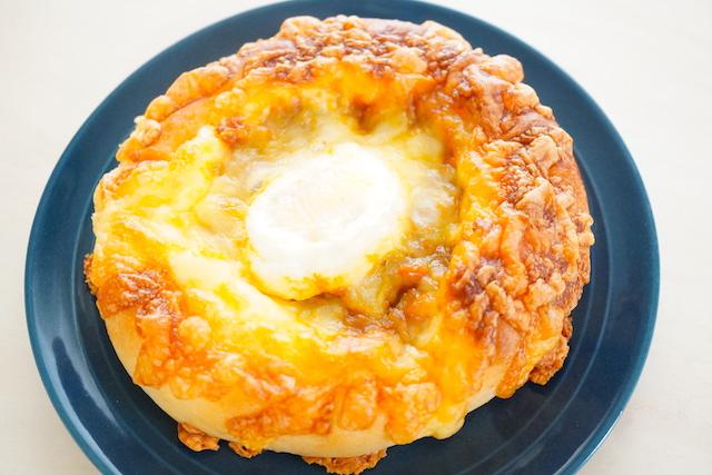 半熟たまごの焼きチーズパン