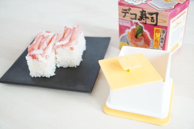 パッケージとカニカマ寿司