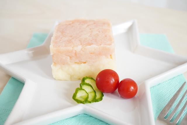 2層のポテトサラダ