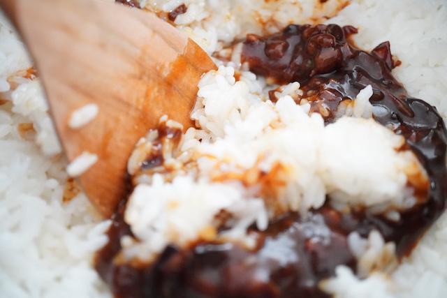 お米と混ぜているところ