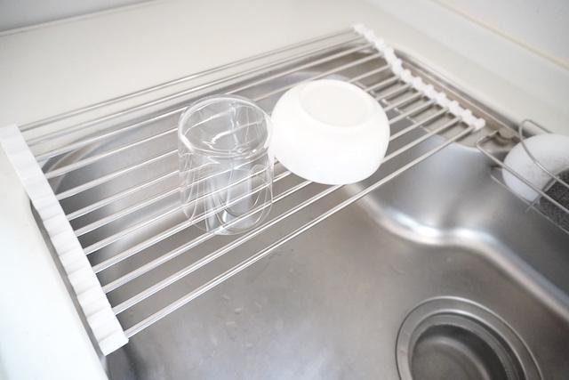 食器をおいた水切り