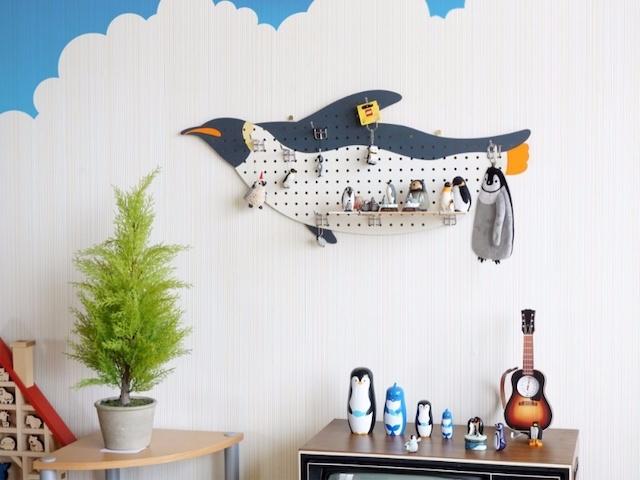 空飛ぶペンギンウォールハンガー