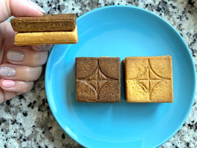 「バターサンド〈栗〉」2種のクッキー生地