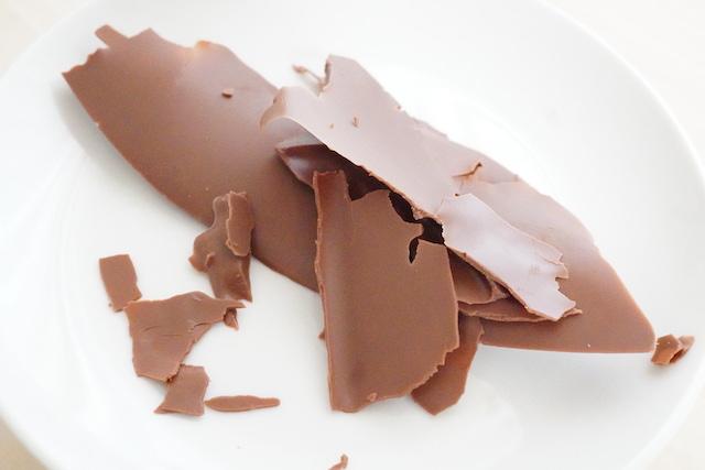 固まったチョコレート