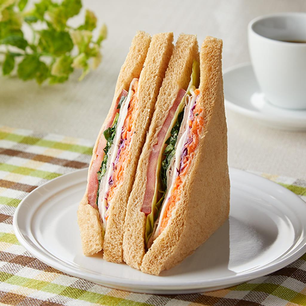 【ファミリーマート】全粒粉サンド 野菜ミックスとハム(11月3日発売)