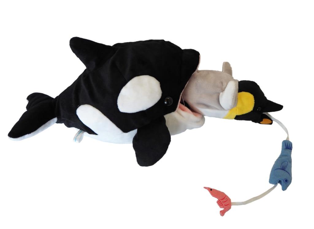 食物連鎖ぬいぐるみ 食物連鎖 シャチぬいぐるみ シロクマぬいぐるみ 人気 売り切れ 食物連鎖・北極 食物連鎖・南極 センスオブワンダー Sense of wonder 水族館売店 動物園売店 AQUA