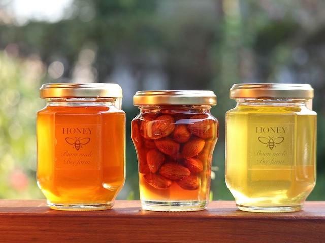 【送料無料】宮崎産非加熱ハチミツ2種&アーモンドはちみつ漬け 3本ギフトセット  熨斗対応可