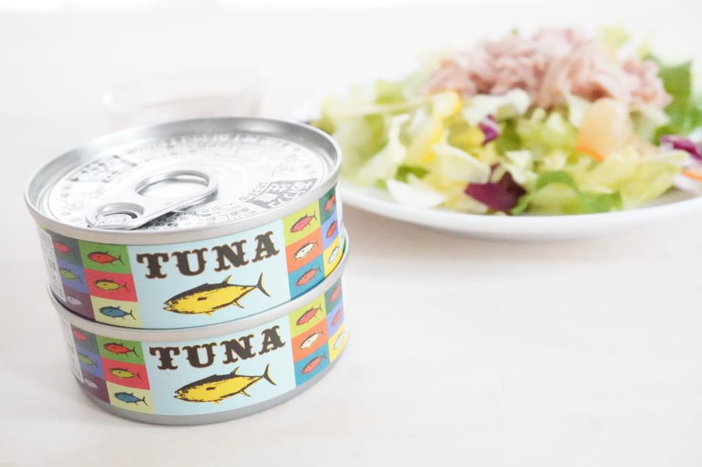 ツナ缶とサラダ
