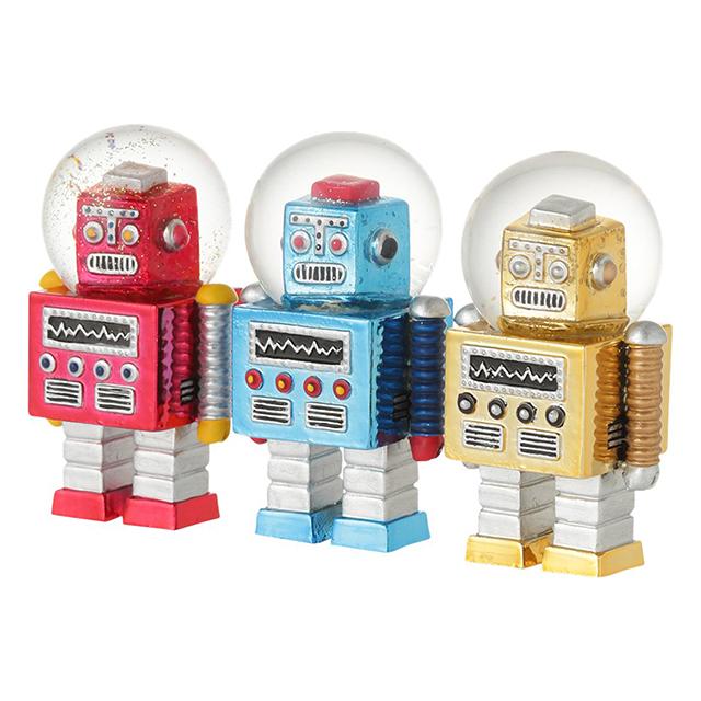 【フランフラン】 スノードーム ロボット (3個セット)