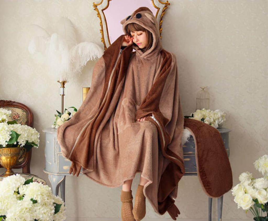 モモンガになれちゃう着る毛布 モモンガ 着る毛布 可愛い着る毛布 可愛い 動物毛布 人型毛布 人をダメにする毛布
