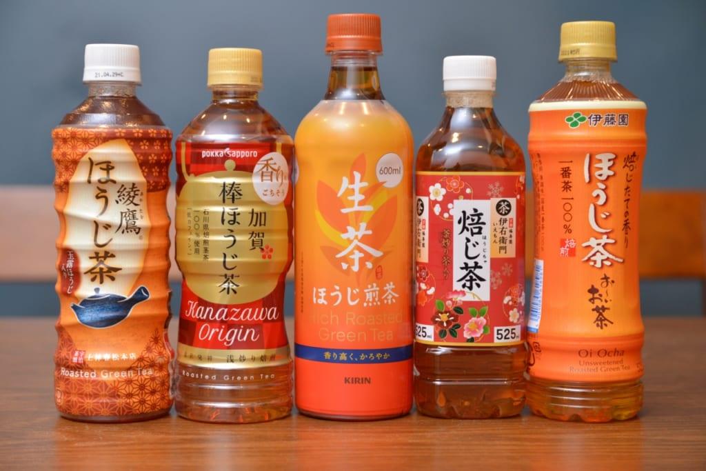 飲み比べるほうじ茶5商品