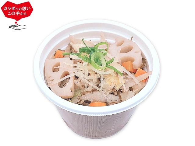 7種野菜ともち麦の生姜スープ
