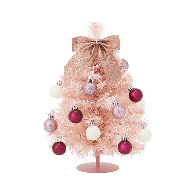 【完売続出】フランフランのおすすめクリスマスアイテム10選 デスクトップセットツリー S ピンク