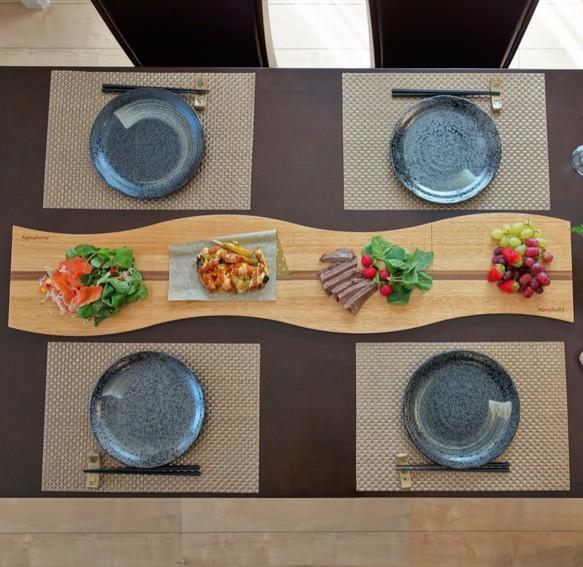 木製プレート amanogawa【ナチュラル】 4枚セット  おうちごはんを楽しもう!『冬ごもり 2020』