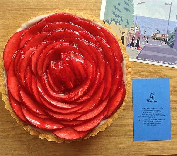 【クリスマスのお届け予約は12月10日まで受付❗️】【お届け日をご指定できます!】「深紅のバラのレアチーズタルト」