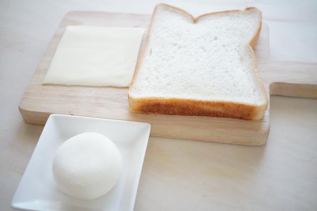 食パンとチーズと雪見だいふく