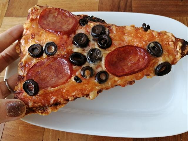 ピザ持ったところ