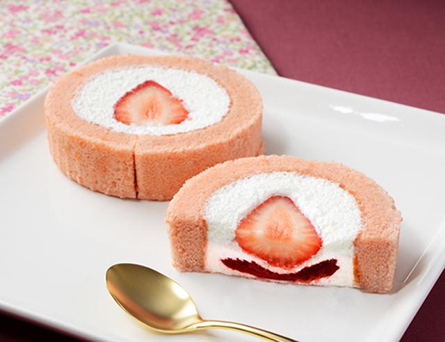 【ローソン】苺みるくロールケーキ(1月12日発売)