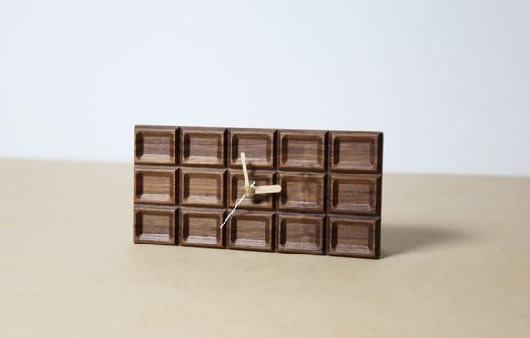 木製『もしもクロック/チョコレート』 ミルクチョコorホワイトチョコ あなたはどっち派?