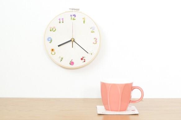 【Creema限定】【数量限定2点】おうち時間を楽しむ福袋(刺繍の花時計&刺繍のコースター)