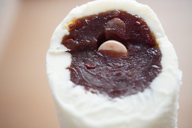 和菓子アイス 北海道産あずきのミルク饅頭断面