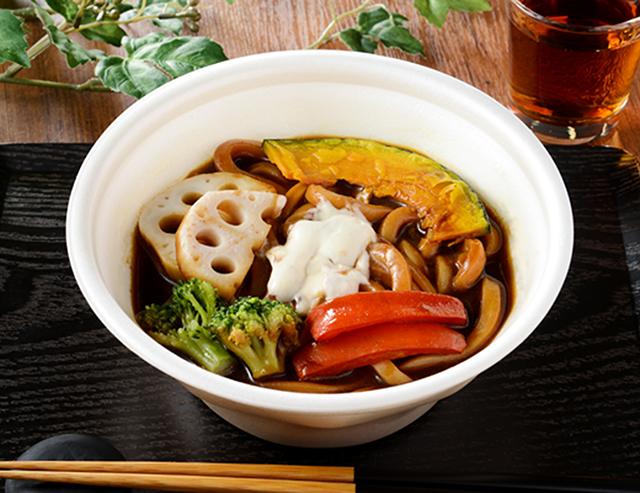 【ローソン】黒いカレーと彩り野菜のおうどん フォンドボー仕立て(1月26日発売)