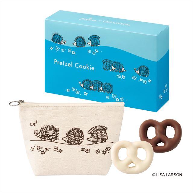 プレッツェルクッキー 14個入り(ミルク/ホワイト各7個)+ポーチ1個付き ¥1,566(税込)