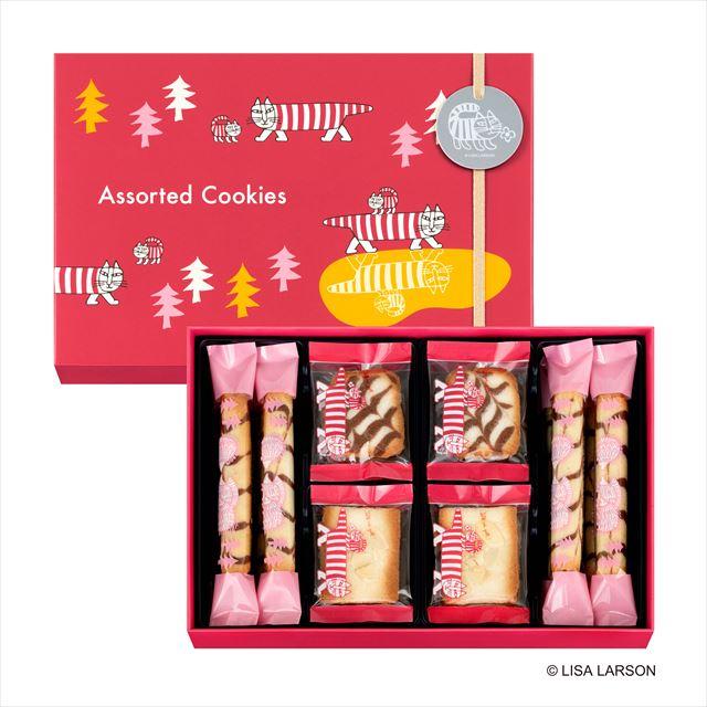 アソーテッドクッキー 20個入り(ロールクッキー8個/スライスアーモンドクッキー6個 /ジャンドゥーヤサンドクッキー6個) ¥1,296(税込)