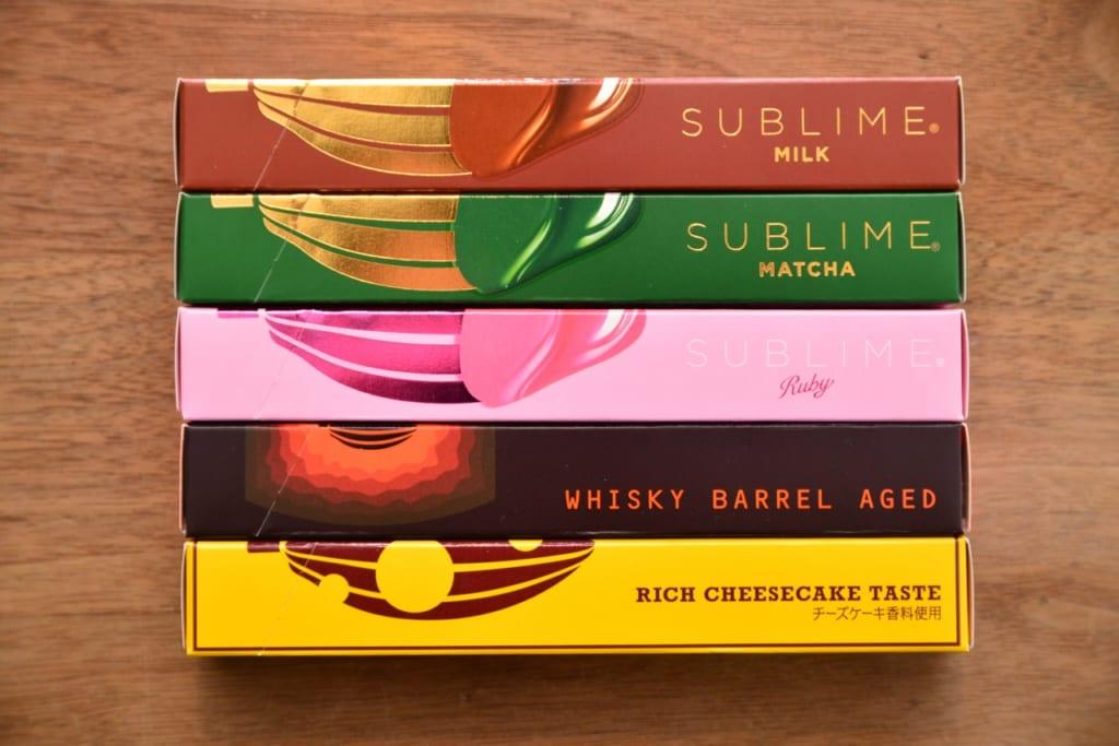 種類豊富な「キットカット ショコラトリー」から5つを食べ比べます