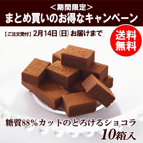 【通販限定】糖質88%カットのとろけるショコラ 10箱入