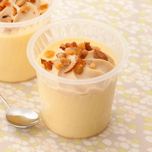 糖質82%カットのプリン キャラメルナッツクリーム