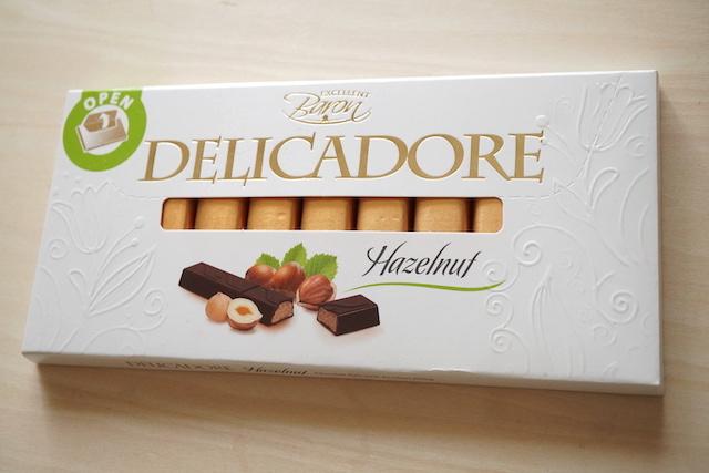 ヘーゼルナッツチョコバーパッケージ